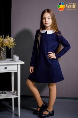 Rochie din tricotaj albastru închis
