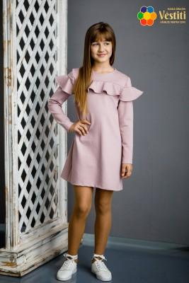Платье из трикотажное полотно пудра