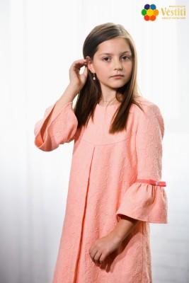 Rochie jacquard piersic