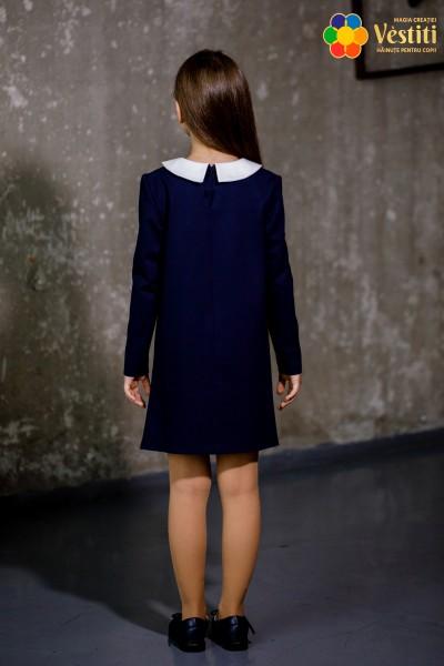 Rochie din ticotaj albastru închis
