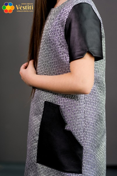 Серебряное платье