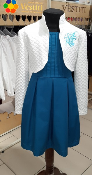 Комплект, платье с болеро