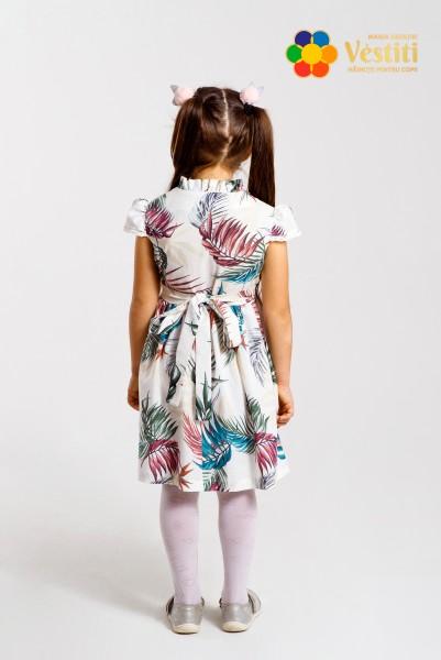 Rochie din in cu imprimeu