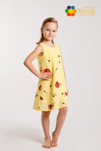 Rochie galbenă cu broderie