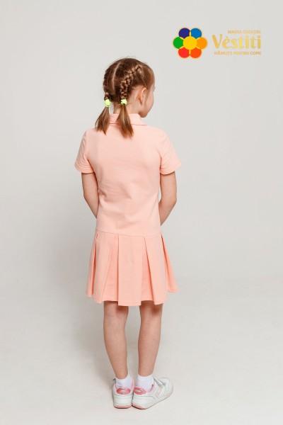 Платье-поло, персик