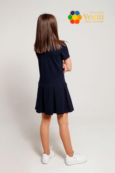 Платье-поло, темно-синее
